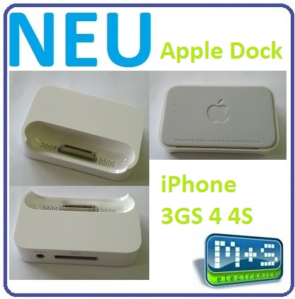 original apple iphone dock ladestation dockingstation f r iphone 3gs 4 4s mc596 ebay. Black Bedroom Furniture Sets. Home Design Ideas