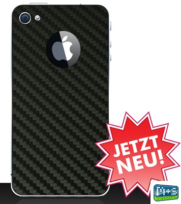iPhone-4S-Backcover-Design-Folie-Schutzfolie-Carbon-Schwarz-Black-iPhone-4